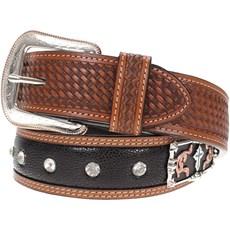 76ea99807f3 Cinto Importado em Couro Bordado com Margarida e Strass - 3D Belt Company