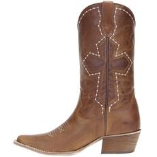 f44b7f068b Bota Texana Branca Feminina Cano Curto - West Country - Rodeo West