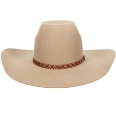 22e554f2b90aa Chapéu Estilo Country de Feltro Bege Texas Diamond 20773