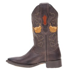 1ee798b4b0 Bota Cano Longo Feminina Marrom Cow Way 21297 - Rodeo West
