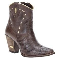6f3a33ffab3 Bota Escamada Feminina Urbana Boots Marrom 21539