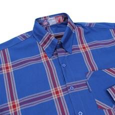 Camisa Xadrez Masculina Manga Longa Azul Rodeo Western 22727 f031cc0d2be