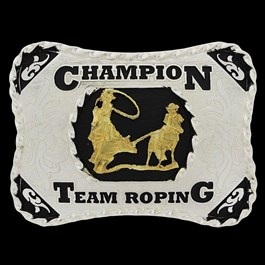 Fivela Country Team Roping Cowboy Brand 22904