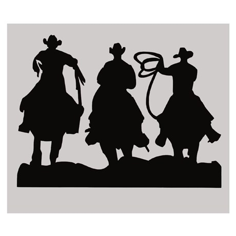 Adesivo 3 Cowboys - Rodeo West 14028