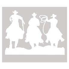 Adesivo 3 Cowboys - Rodeo West 14029