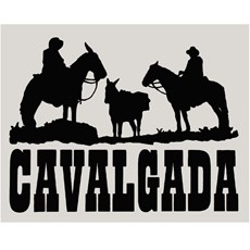 Adesivo Cavalgada - Rodeo West 14008
