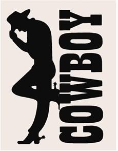 Adesivo Cowboy - Rodeo West 13994