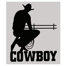 Adesivo Cowboy - Rodeo West 14040