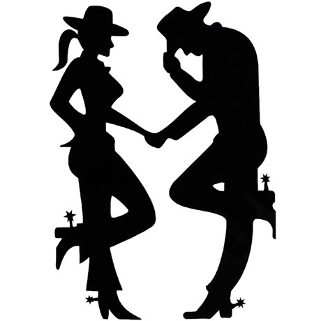 Adesivo Cowgirl e Cowboy  - Rodeo West 14978