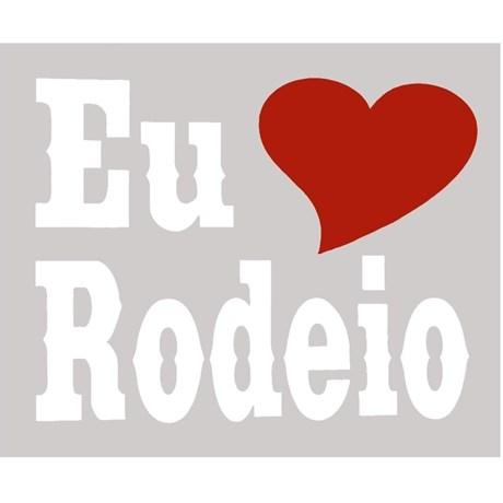 Adesivo Eu Amo Rodeio - Rodeo West 14039