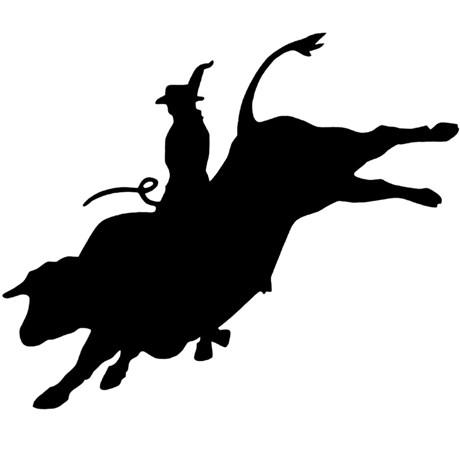 Adesivo Montaria em Touro - Rodeo West 15856