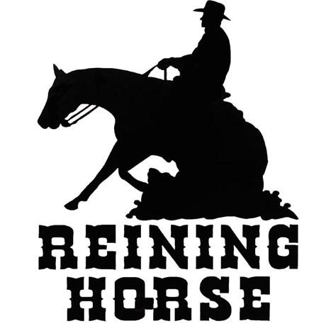 Adesivo Reining Horse - Rodeo West 14982
