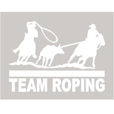 Adesivo Team Roping - Rodeo West 13985