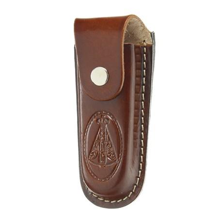 Bainha para Canivete Grande em Couro Nossa Senhora Aparecida Rodeo West 29293