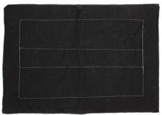 Baixeiro de Sisal e Carpete Preto - Bronc-Steel 18685