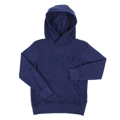 Blusa de Frio Infantil Masculina com Capuz Azul Levi's 29817