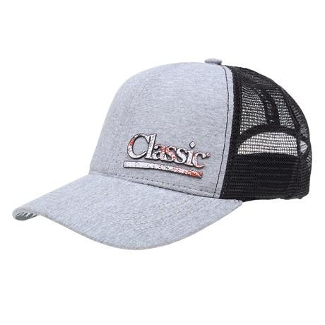 Boné Cinza com Tela e Aba Estampada EUA Classic 27641