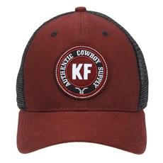 Boné de Tela com Aba Curva Vermelho King Farm 23761