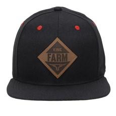 Boné Preto Aba Reta King Farm 23765