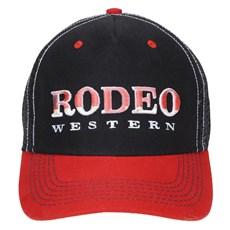 Boné Preto Bordado Rodeo Western com Tela 23358