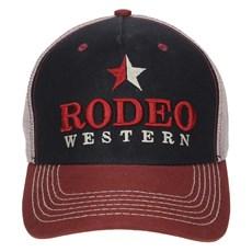 Boné Preto Rodeo Western com Tela 23363