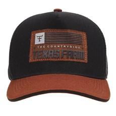 Boné Preto Trucker Snapback Texas Farm 29043
