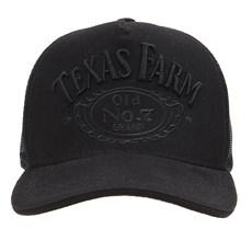 Boné Preto Trucker Snapback Texas Farm 29045