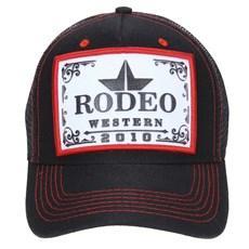 Boné Tela Preto Rodeo Western 23366