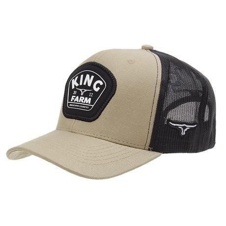 Boné Trucker Bege Snapback King Farm 29012