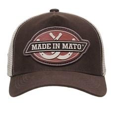 Boné Trucker Marrom com Tela Made in Mato 29194