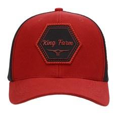 Boné Trucker Vermelho Snapback King Farm 29014