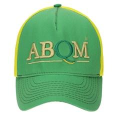 Boné Verde Bordado em Alta Definição com Tela Amarela - ABQM