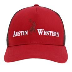 Boné Vermelho com Tela Austin Western 26695