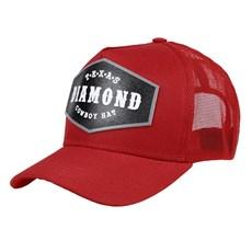 Boné Vermelho Trucker com Tela Texas Diamond 24428