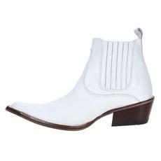 Bota Branca de Couro Masculina Bico Fino Cow Way 23075