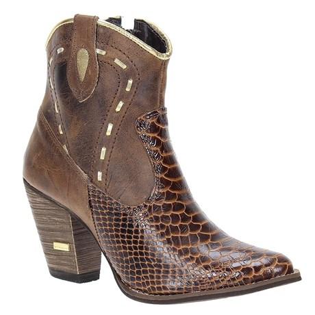 943a404a79d Bota Country Feminina Anaconda Marrom Urbana Boots 21538 - Rodeo West
