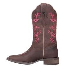 Bota Country Feminina Marrom Bico Quadrado Cow Way 26813