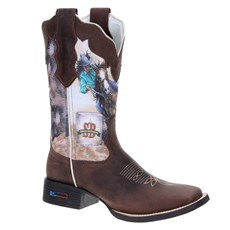 2aff9258d7058 Bota Country Feminina Smith Brothers Cano Longo 19555 ...