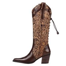 2c4ee9f460 ... Bota Country Feminina Texana Cano Longo Regulável Marrom 24479
