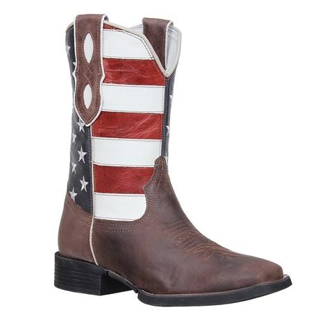 Bota Country Masculina Bico Quadrado Marrom USA Cow Way 26818