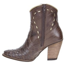 Bota Escamada Feminina Urbana Boots Marrom 21539