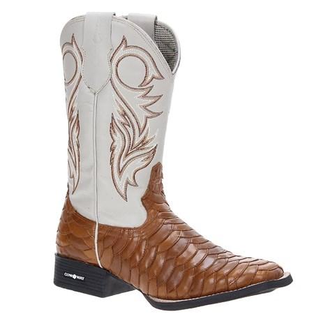 7bed30daf30 Bota Escamada Masculina Bico Quadrado Cow Way Marrom 22027 - Rodeo West