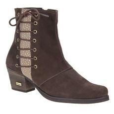 Bota Feminina Bico Fino Marrom Urbana Boots 23434
