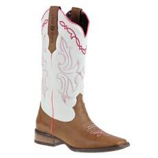 Bota Feminina Bico Quadrado Cow Way Marrom 26159
