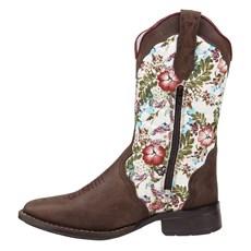 83e3088876 ... Bota Feminina Cano Longo Floral Bico Quadrado Cow Way 24490