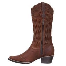 Bota Feminina Texana Cano Longo Marrom Cow Way 27068