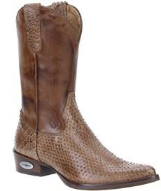 Bota Masculina Texana Escamada Marrom Cow Way 21506