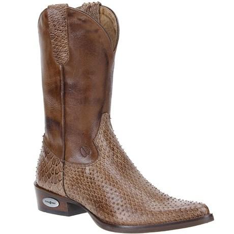4ff2249ba Bota Masculina Texana Escamada Marrom Cow Way 21506 - Rodeo West