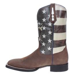 Bota Masculina Western Cano Longo Estampa Bandeira EUA - West Country 17732