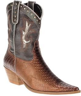 Bota Texana Feminina Anaconda Bronze com Rebites - West Country 12757